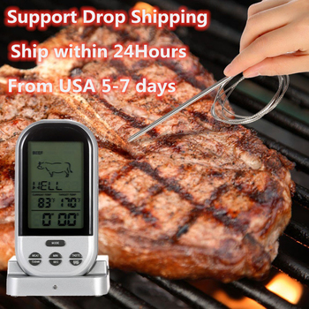 digital instant read voice broadcast food bbq cooking thermometer with lcd backlit display foldable probe for steak milk water m Wireless Thermometer Digital Kitchen Thermometer Meat Water Milk Cooking Food Probe BBQ Electronic Oven Thermometer Kitchen Tool