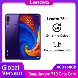 Global Version Lenovo Z5s Snapdragon 710 Octa Core 4GB 64GB SmartPhone Face ID 6.3 inch Camera 16.0MP Android Cellphon