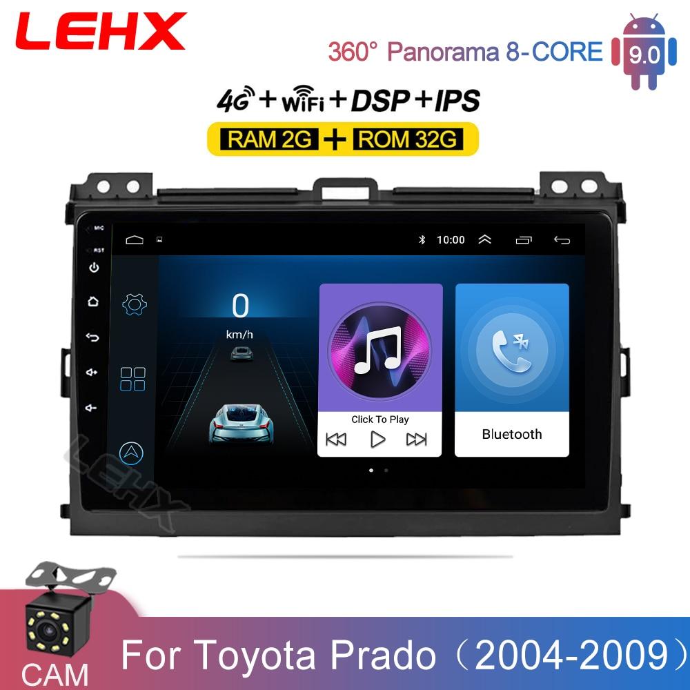 Автомагнитола LEHX для Toyota Land Cruiser Prado 120 2004-2009, мультимедийный видеоплеер с GPS-навигацией, 2din, 2 din, dvd