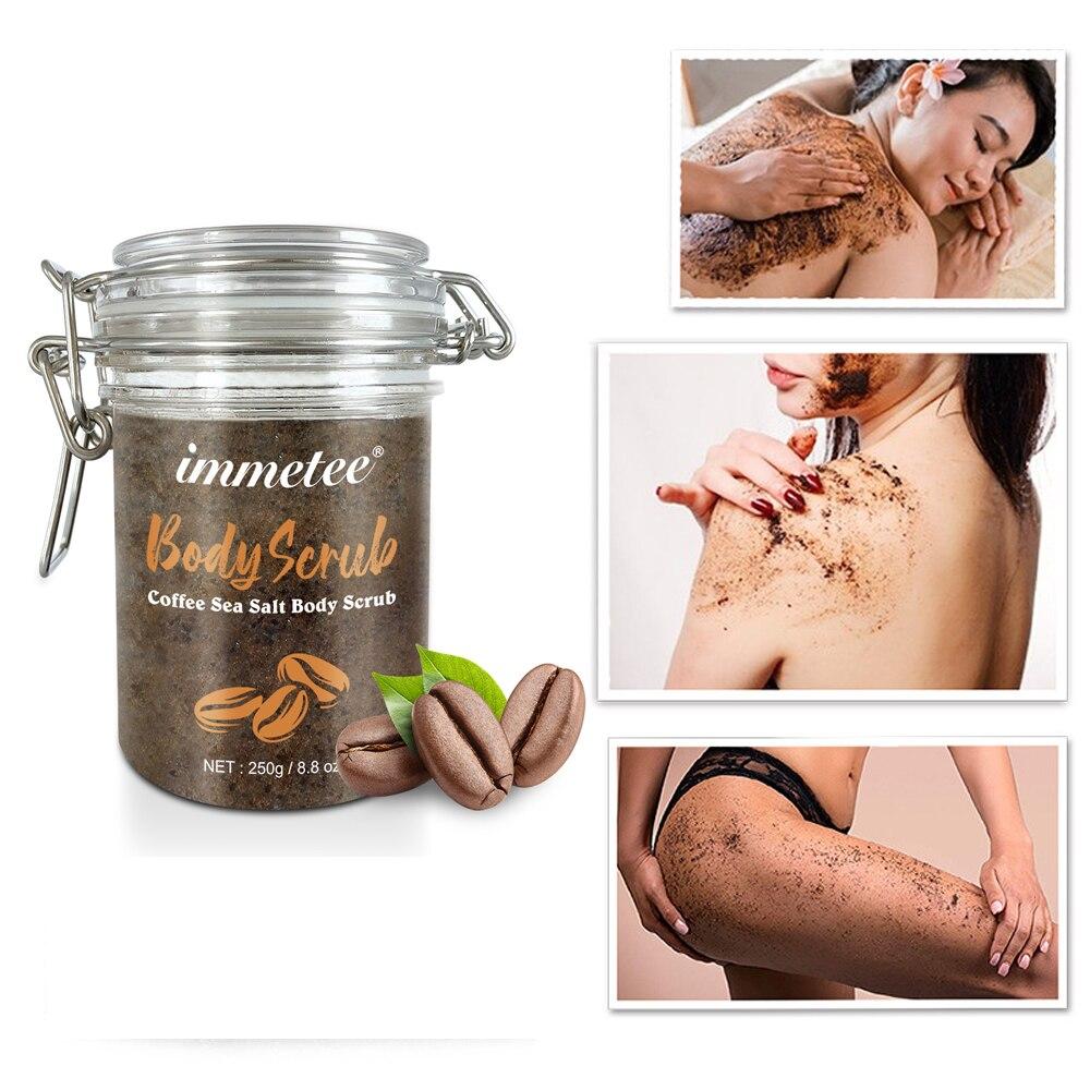 Coffee Scrub Coconut Scent Body Scrub Cream Facial Coconut Oil Cleansing For Exfoliating Whitening Moisturizing Anti Cellulite