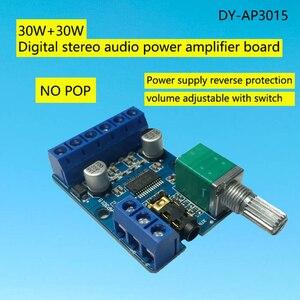 Image 5 - מגבר לוח ערוץ כפול סטריאו גבוהה כוח דיגיטלי אודיו 2*30W Amplificador DIY מודול 12 V  24V