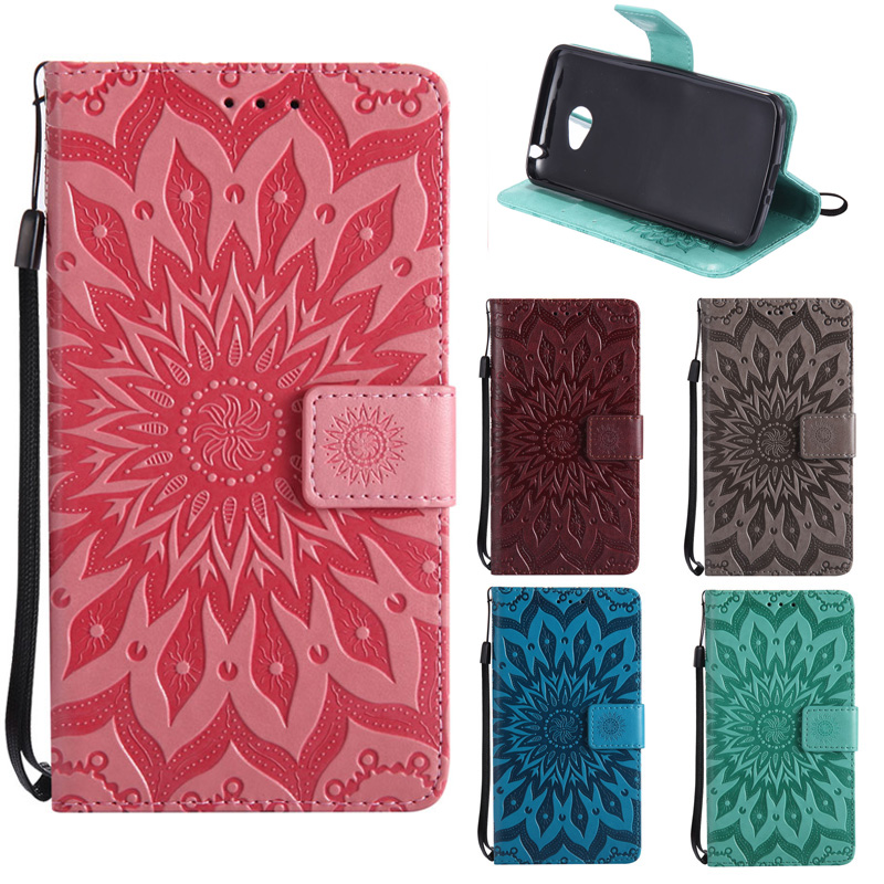Luxury Sunflower Leather PU Phone Case For LG K5 Case Flip For Coque LG K 5 Case Wallet For Cover LG X220 <font><b>X220DS</b></font> Funda Bag Capa image
