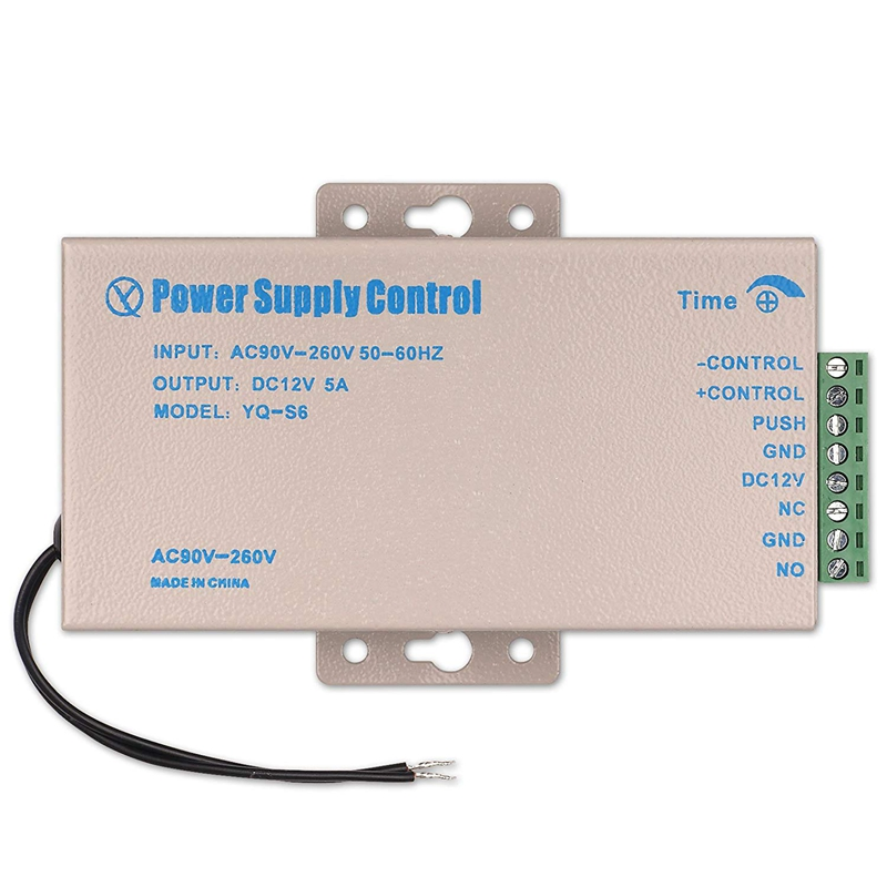 DC 12V 5A Access Control Power Supply AC 90-260V For Home Office Electric Door Lock Office Security System