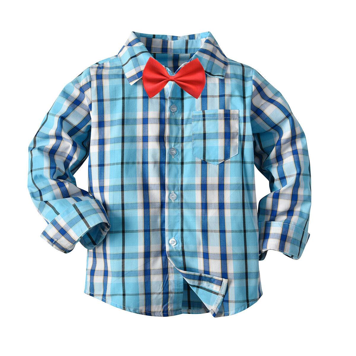 Emmaaby/Новинка года; классические рубашки в клетку с длинными рукавами и лацканами для мальчиков; сезон весна-осень топы с карманами; Повседневная рубашка для маленьких мальчиков детская одежда - Цвет: Синий