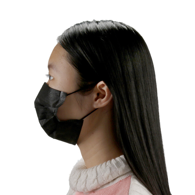 10/20/50/100Pcs Mouth Mask Disposable Black Cotton Mouth Face Mask Non-woven Mask Earloop Activate 4