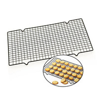 BEST1pc Carbon Steel Non-stick Cooling Rack Cooling Grid Baking Tray For Biscuit Cookie Pie Bread Cake Baking Rack