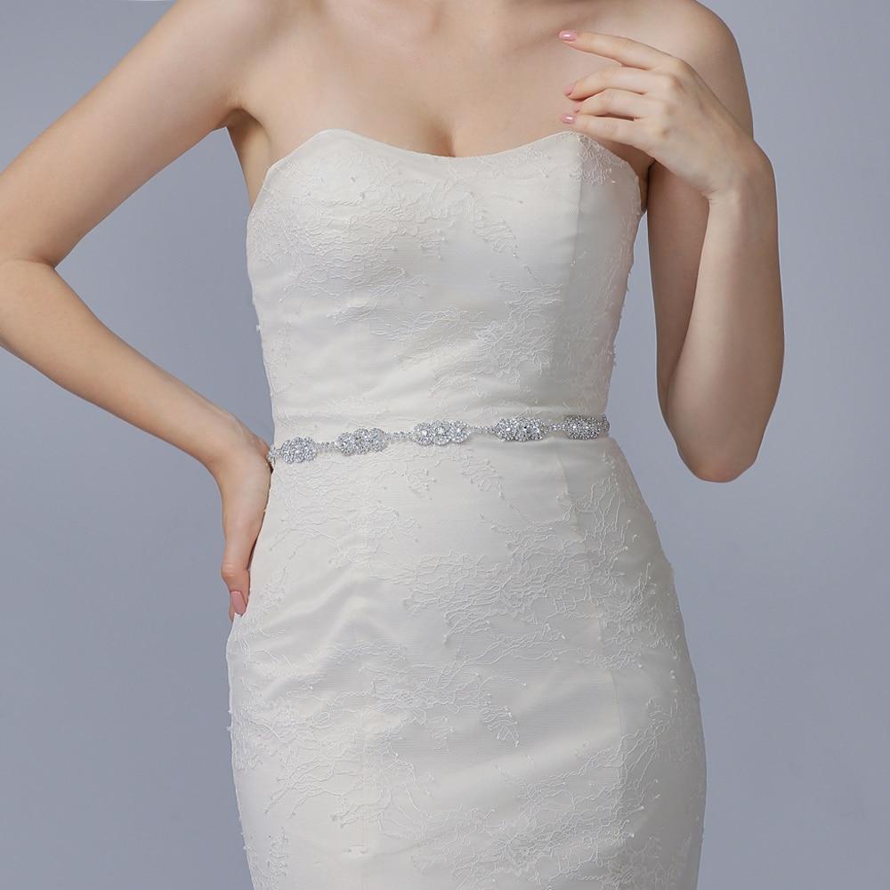TRiXY S215 Gorgeous Rhinestone Wedding Belts Diamonds Bridal Belts Sash Wedding Dress Accessory Evening Party Ribbon Belt Sashes