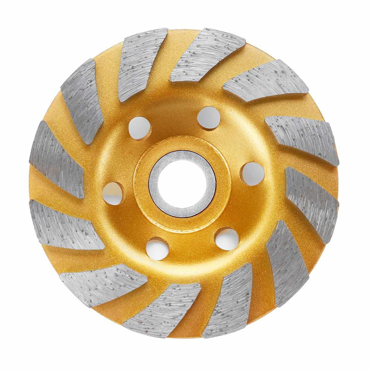 Прочный 5 Тип 4 дюйма 100 мм Алмазный шлифовальный диск шлифовка в форме чаши чашка бетонный гранитный камень Керамика инструменты - Наружный диаметр: Gold