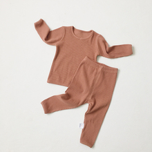 Kids Baby Boys Girls Clothes Ribbed Set