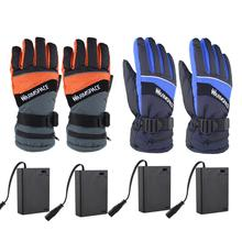 Motorcycle Heated Gloves Electric Waterproof Insulated Heating Gloves Keep Warm for Skiing Riding Outdoor Sport 3 7v 2000mah electric heating gloves outdoor sport ski lithium battery self heated gloves warm 3 hours boys