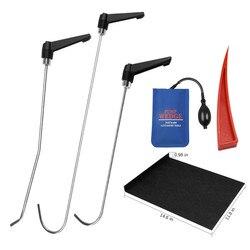 PDR herramientas Herramientas de bielas Kit de reparación de abolladuras de coche Barra de mango giratorio con cuña roja ajustable para abolladuras de coche daños por granizo