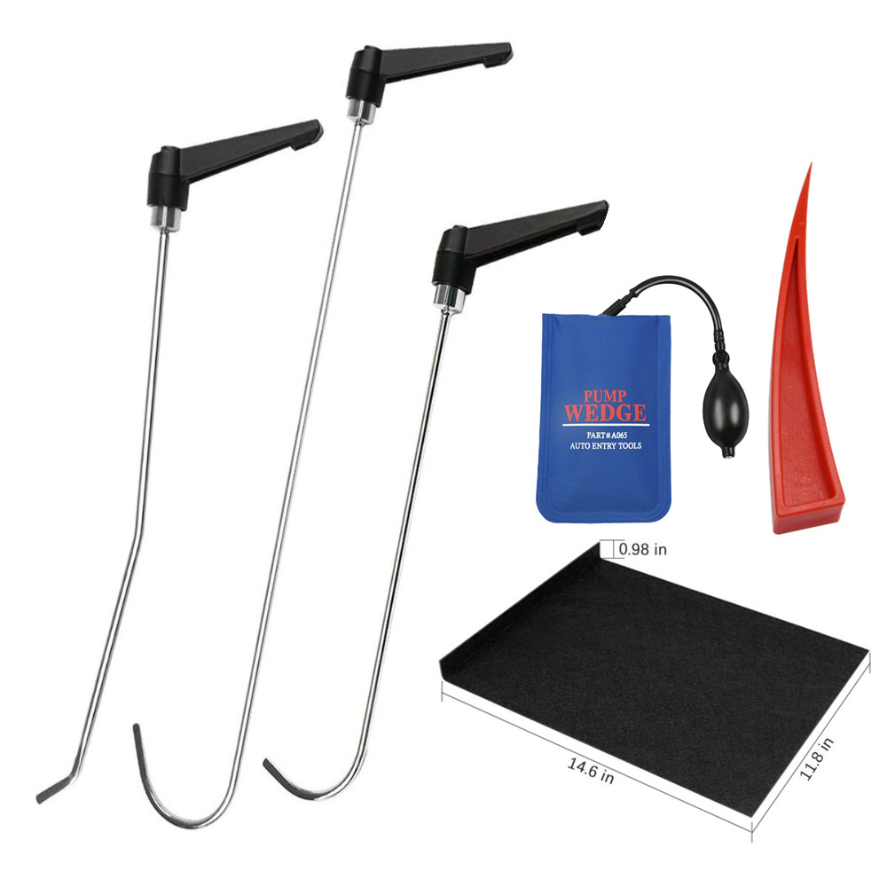 PDR Tools Rods Tools Car Dent Repair Kit Rotating Handle Rod With Red Wedge Adjustable For Car Dents Hail Damage