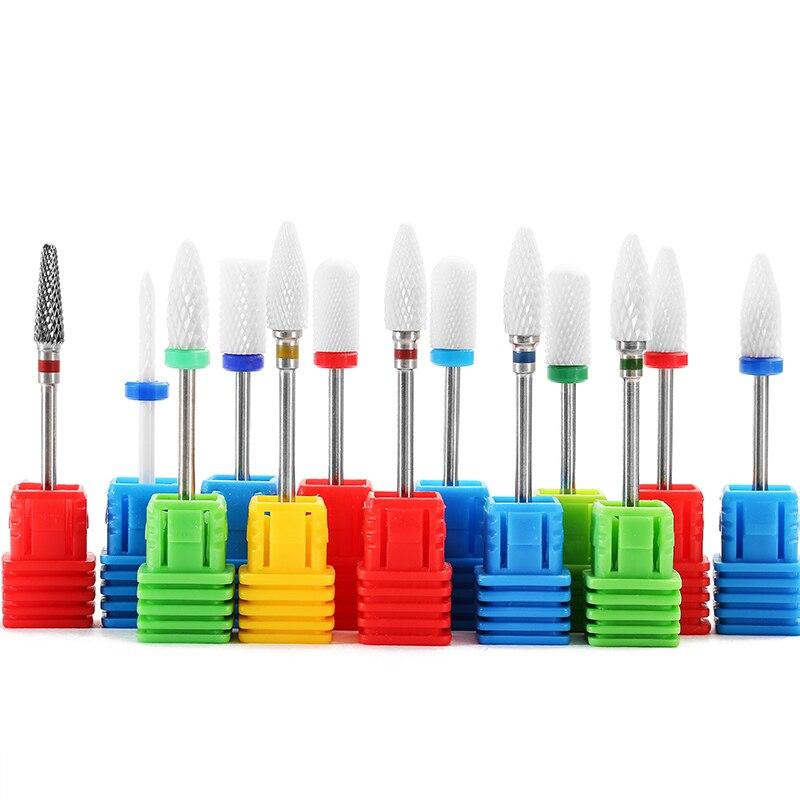ASWEINA Ceramic Cuticle Clean Burr Nail Drill Bit Rotary Mills Cutter Electric Manicure Pedicure Nail Drill Machine Accessories