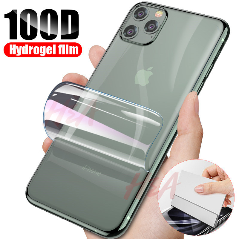 Back Screen Protector Hydrogel Film For IPhone 7 8 Plus 11 Pro Xs Max X Xr Protection For IPhone 6 6s Plus Film Not Glass