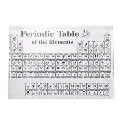 Akrylowy wyświetlacz okresowy z elementami wyświetlacz stołowy  z elementami studenckie prezenty dla nauczycieli dekoracja chemiczna w Chemia od Artykuły biurowe i szkolne na