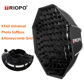 Triopo KX65 Photo Universal Speedlite Outdoor Octagon Umbrella Soft Box w Honeycomb Grid for Yongnuo 560IV Godox A1 AD200 Flash