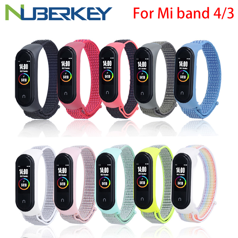 Mi Band 4 Wrist Strap Soft Nylon Straps For Xiaomi Mi Band 4/3 Bracelet Strap Mi Band 4 3 Wrist Replacement Smart Accessories