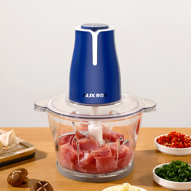 Automatic Meat Grinder Stainless Steel 2L Powerful Mincer Slicer Vegetable Food Processor Cocina Kitchen Chopper Tool MM60JRJ 1