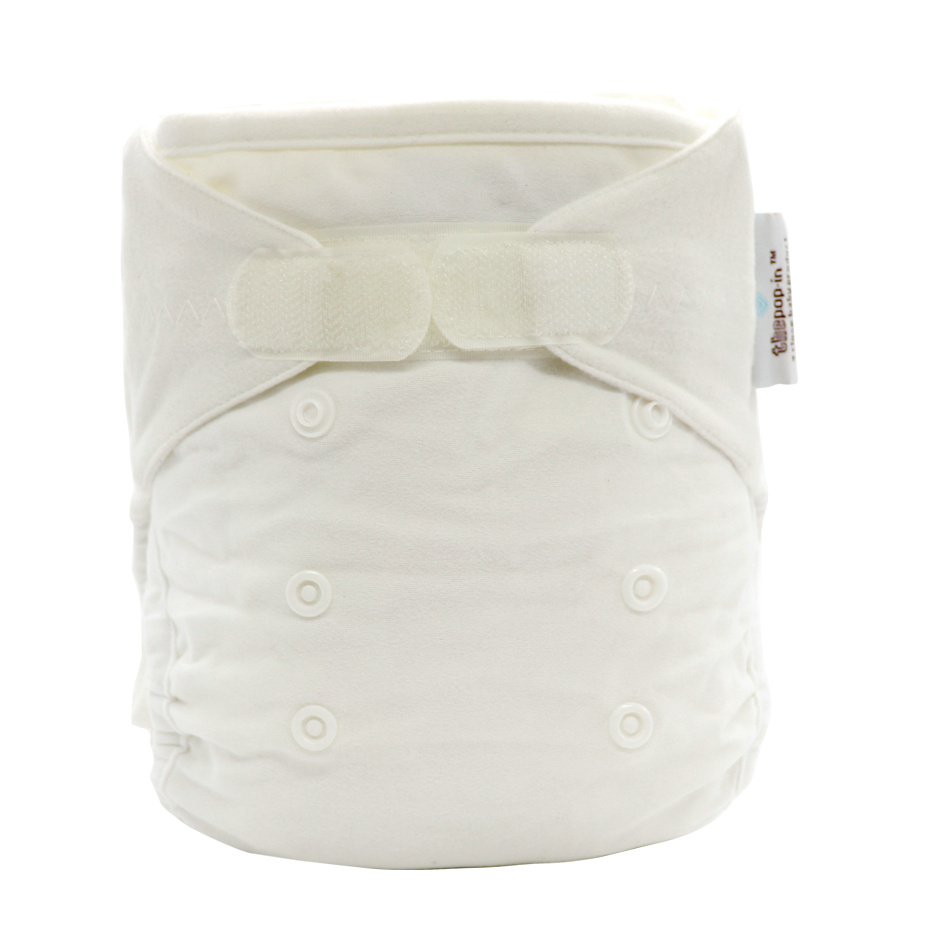 white reusable cotton bamboo diapers