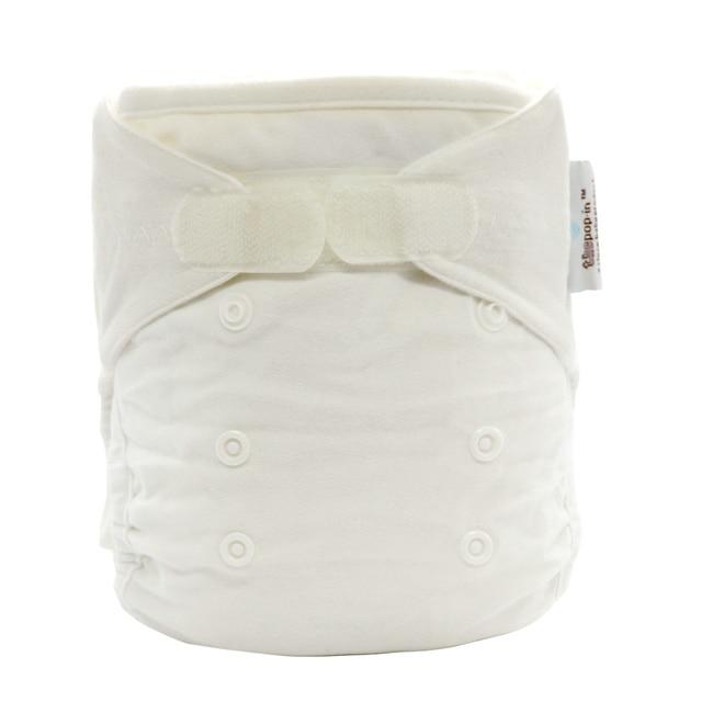 white reusable cotton bamboo diapers