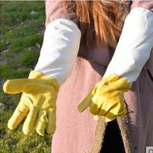 Анти-пчела Перчатки Пчеловодства специальные толстые белые овчины перчатки мягкие анти-пчелы дышащие пчелы защиты
