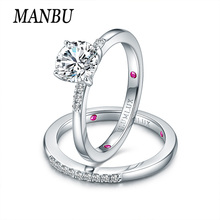 925 sterling silver Engagement Couple Wedding Rings for women cubic zirconia ring Women men jewelry gift brand silver jewelry цена в Москве и Питере
