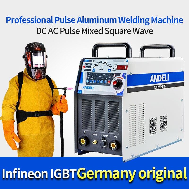 Andeli Tig-250pac Inverter Ac Dc Digitale Blokgolf Aluminium Erfüllt Tig spot schweißer Lasser schweißen ausrüstung maschine löten deko