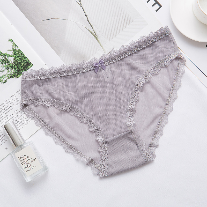 Breathable Transparent String Underpant Lingerie Sexy Panties Women Lace Low-waist Briefs Female Breathable Embroidery Underwear