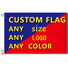 Graphic Custom Printed Flag With Shaft Cover Brass Grommets Design Outdoor Advertising Banner Decoration