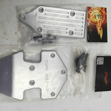 Metal Front and Rear Skid Plate Chassis Proteciton Armor for 1/5 Losi 5ive T Rovan Lt Rc Car Parts