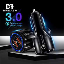 Quick Charge 3.0 Car Charger Portable 5V 3A Fast Charging GPS 2 Port USB Car-Charger for IPhone Samsung IPad USB Charger Adapter цена 2017