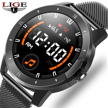 LIGE 2021 New Smart Watch Men Women IP68 Waterproof Music Player Bluetooth Call Sports Smart Watches For Android IOS Smartwatch