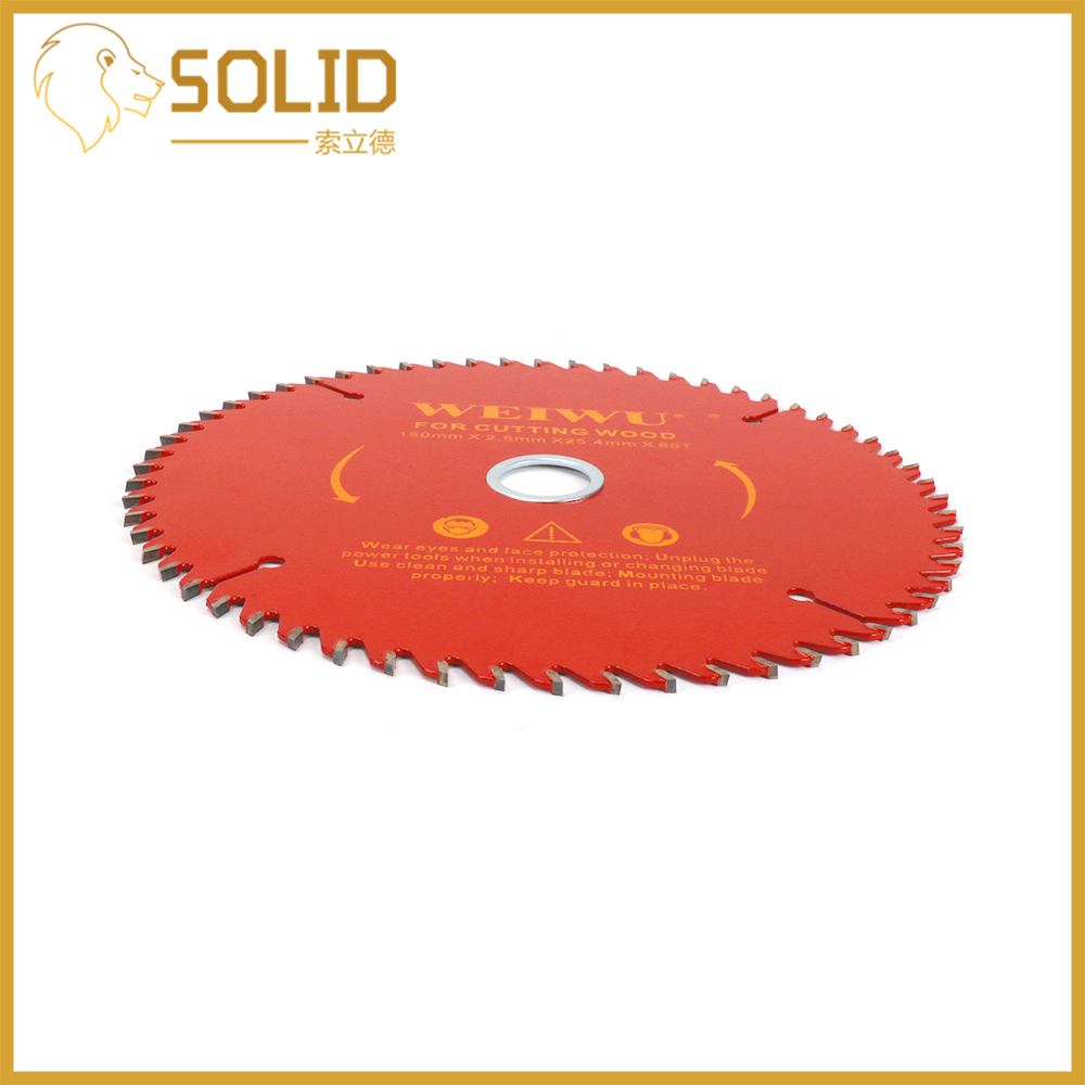 150mm Carbide Circular Saw Blade Wood Cutting Blade Round Wheel Discs For Woodworking Cutting Bore 25.4mm 40/60T Red