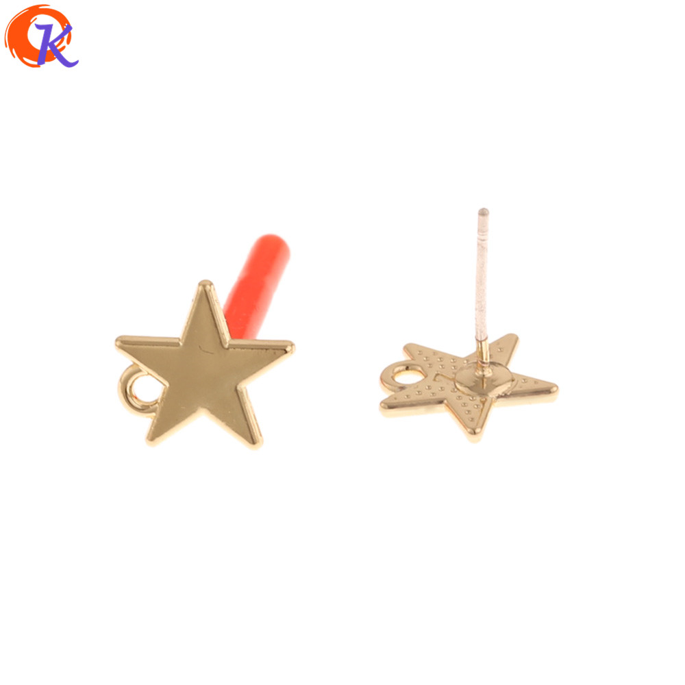 Cordial Design 100Pcs 10*11MM Jewelry Accessories/Earrings Stud/Silver Needle/Star Shape/DIY Making/Hand Made/Earring Findings