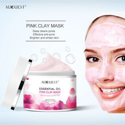 Auquest 50g Pink Clay Mask Pore Black Dots Blackhead Deep Cleansing Mask Against Face Acne Exfoliating Facial Beauty Skin Care