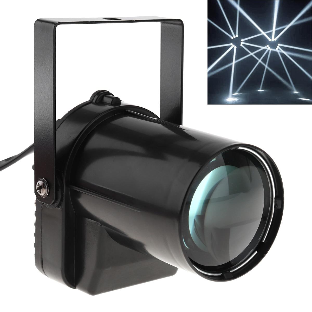 5W LED Spotlight White Beam Pin Light 200-220LM Stage Lighting Effect Lamp Suitable For DJ / Disco / KTV / Bar / Party