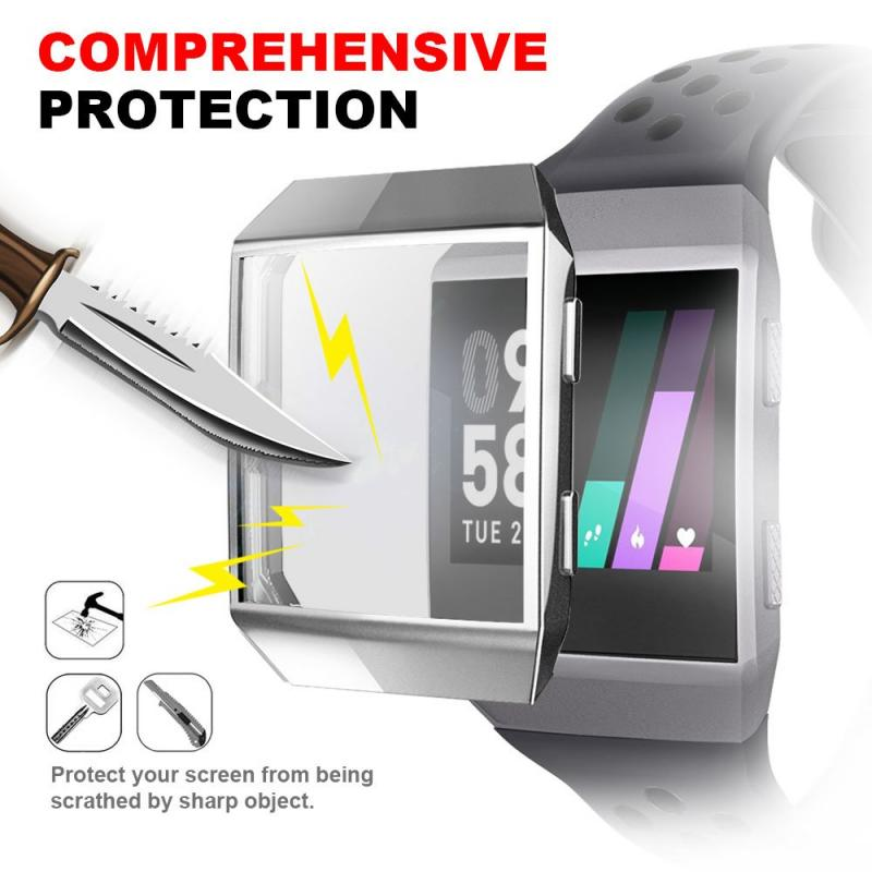 7 Colors Soft TPU Case Cover Screen Protector Waterproof Shockproof Protection Case Smart Watch Accessories For Fitbit Ionic
