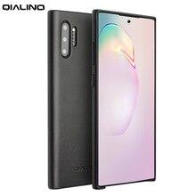 QIALINO Fashion Cassa del Cuoio Genuino per Samsung Galaxy Note 10 Ultra Sottile Fatti A Mano Della Copertura Del Telefono per Samsung Galaxy Note 10 più
