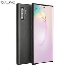 QIALINO Fashion Genuine Leather Case for Samsung Galaxy Note 10 Ultra Thin Handmade Phone Cover for Samsung Galaxy Note 10 Plus