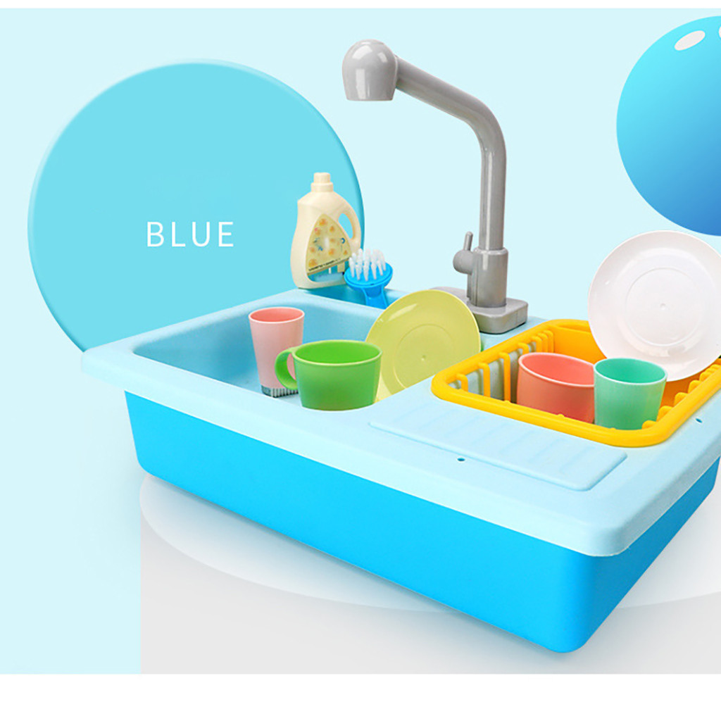 Hot DealsKitchen-Sink-Toys Pretend Play Color-Changing Heat-Sensitive Girls Children's Dishwash