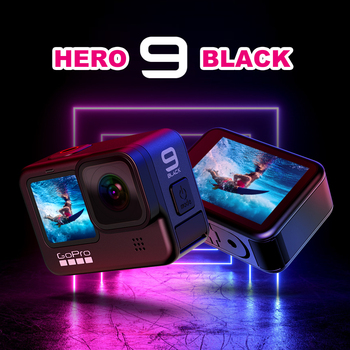 GoPro HERO 9 Black Underwater Action Camera 5K with Color Front Screen, Sports Cam 20MP Photos Live Streaming Go Pro 9 sport cam 1