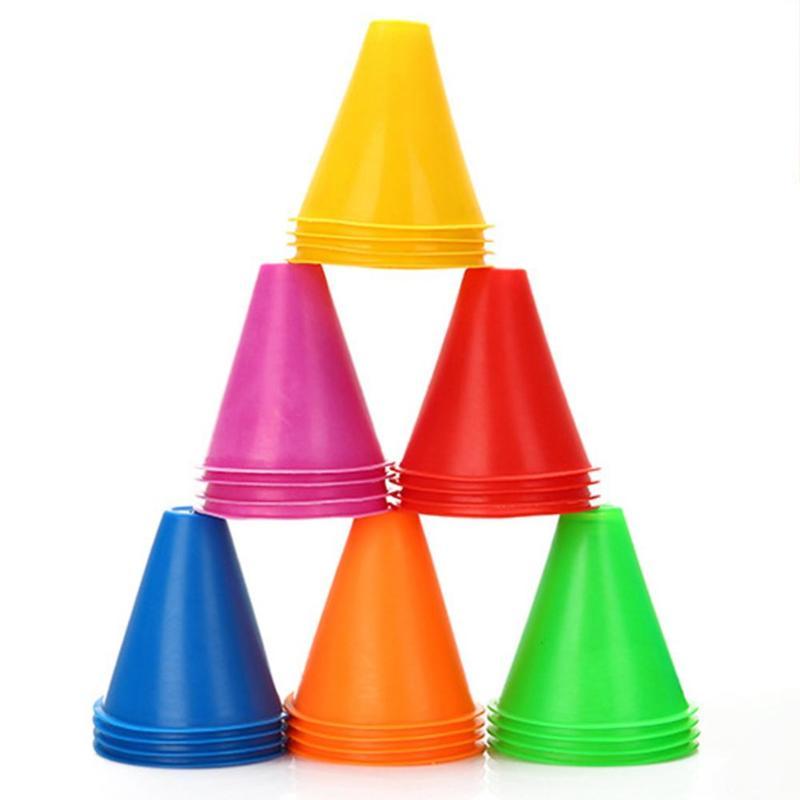 Durable Marker Cones Multi-function 10pcs/set Marker Cones Roller Skating Football Soccer Agility Training Equipment