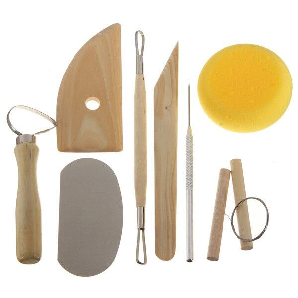 8 шт глиняная керамика формовочные инструменты деревянный нож Инструменты для гончарного дела практичные