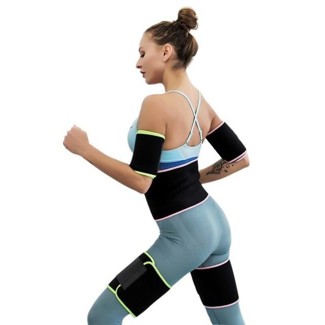 Gym Training sweat belt Weight Loss Burn Exercise Sweat belt PE bag Women Slimming Fitness Waist Belts durable 3