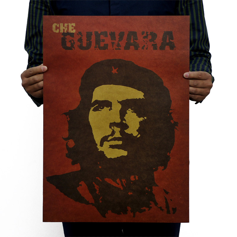 Ernesto Guevara Vintage Kraft Paper Classic Classic Movie Poster Map School Decor Wall Decal Art  Retro School Prints