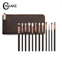 CHMAKE 12pcs Eyeshadow Makeup Brushes Set Professional Eyebrow Eyeliner Eye Shadow Blending Make Up Synthetic Hair