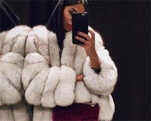 Image 2 - 2019 חדש חורף נשים ורוד מעיל בתוספת גודל 5xl אופנה מקרית Loose מוצק מלא שרוול סלעית קטיפה מעיל נשים גדול להאריך ימים יותר Parka