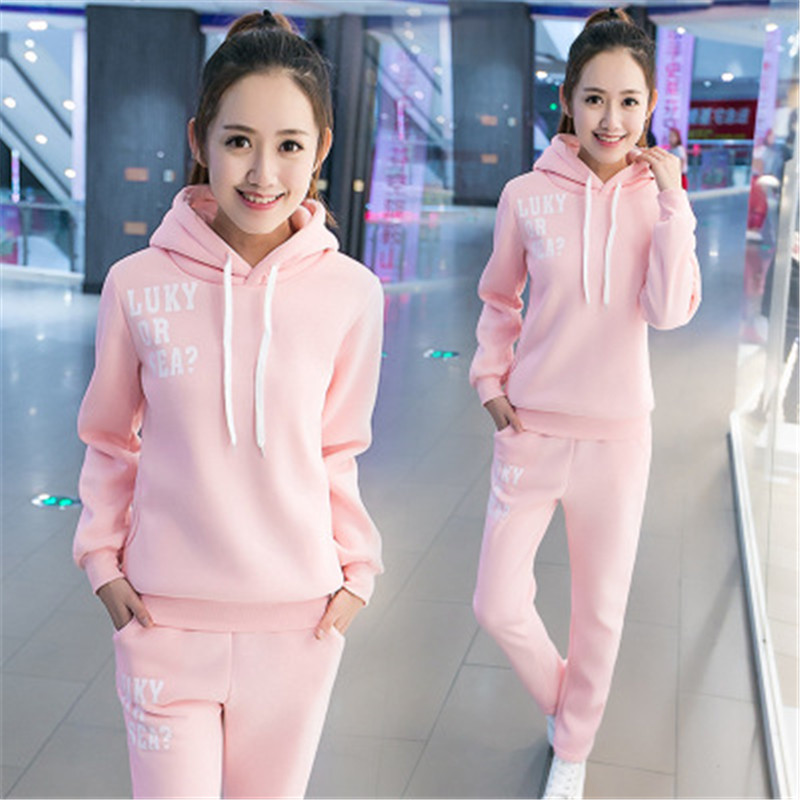 Women Tracksuit Two Piece Set Gym Clothes For Autumn Winter Matching Sets Female 2019