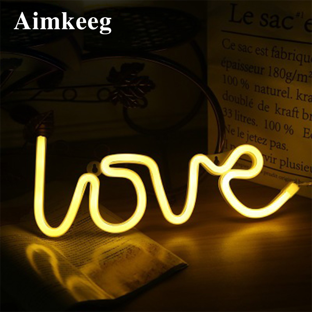 Neon Sign LED Night Light Fairy Rainbow Lights Christmas Decoration For Home Party Gift Holiday Wedding Kid Room Wall Decor Lamp image