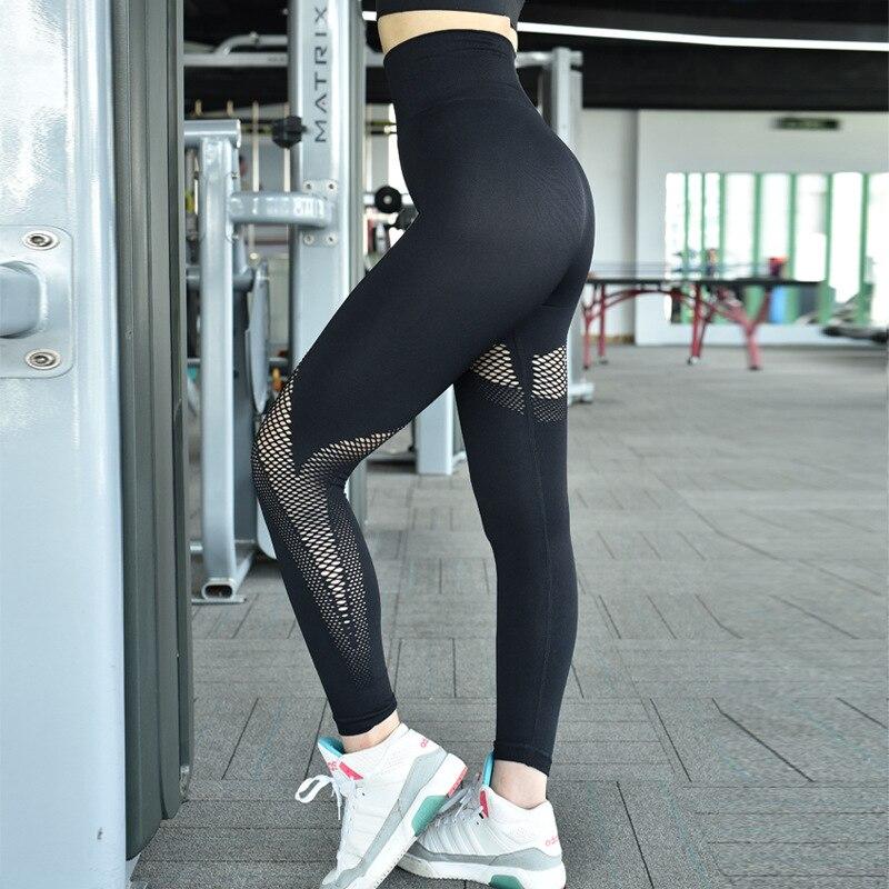 Mesh High Waist Leggins Seamless Sports Pants Ladies Slim Tight Waist Pants Womens Leggings Gym Training Women Fitness Legins in Yoga Pants from Sports Entertainment